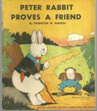 Peter Rabbit Proves a Friend by Thornton Burgess Harrison Cady Illus 1940