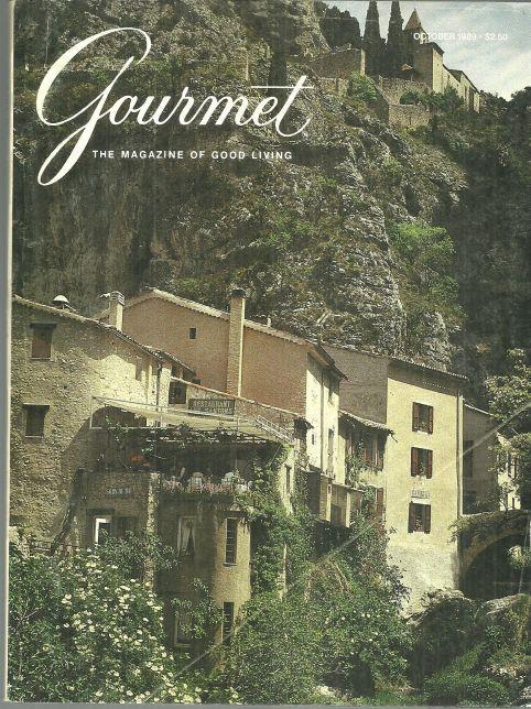Gourmet Magazine October 1989 Moustiers-Sainte-Marie on the Cover