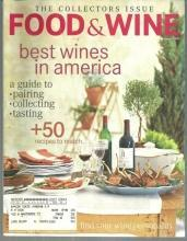 Food and Wine Magazine October 2001 The Wine Issue/Wine Collecting