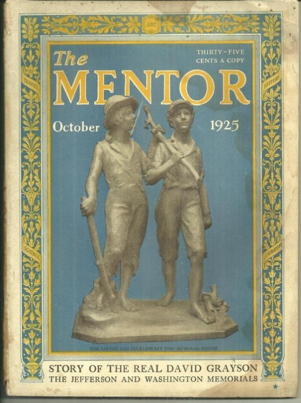 Mentor Magazine October 1925 The Real David Grayson and John Galsworthy