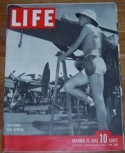 Life Magazine October 12, 1942 California War Worker on cover World War II
