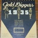 Lullaby of Broadway From Gold Diggers of 1935 starring Dick Powell Sheet Music