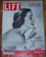 Life Magazine October 6, 1952 Mrs. Peter Thiriot, San Francisco Opera Opening