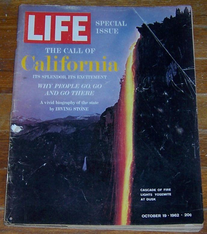 Life Magazine October 19, 1962 Special Issue California Yosemite at Dusk  cover