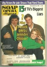 Soap Opera Digest Magazine November 28, 1989 Jen Chooses Days of Our Lives
