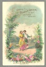 Victorian Trade Card for Bohsemeen Spices with Lovely Courting Couple