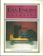 Gas Engine Magazine November 1987 4 HP Doak Side Shaft Engine on Cover