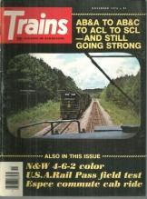 Trains Magazine November 1976 SCL Train 330 on cover