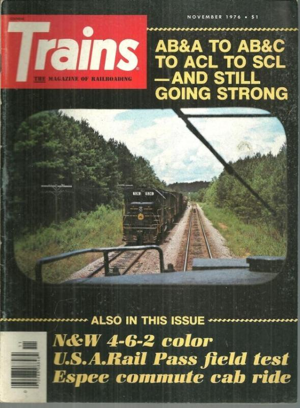 Trains Magazine November 1976 SCL Train 330 on cover