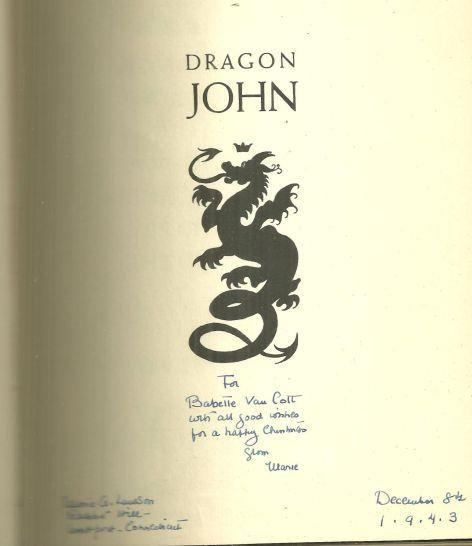 Dragon John Signed by Marie Lawson 1943 1st edition with Dust Jacket