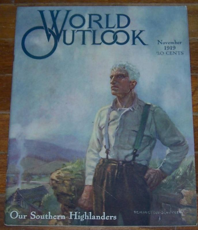 World Outlook Magazine November 1919 Our Southern Highlands on cover