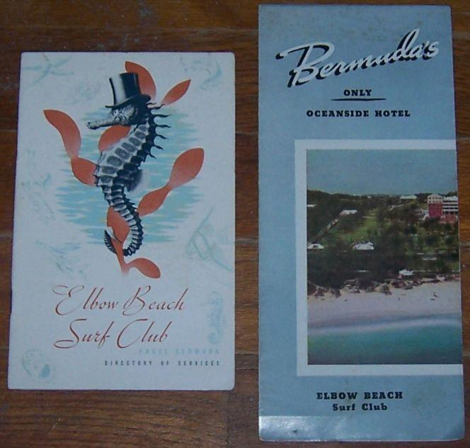 Elbow Beach Surf Club, Brochure and Directory of Services, Bermuda