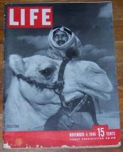 Life Magazine November 4, 1946 Palestine on Cover/Paris Clotheshorses