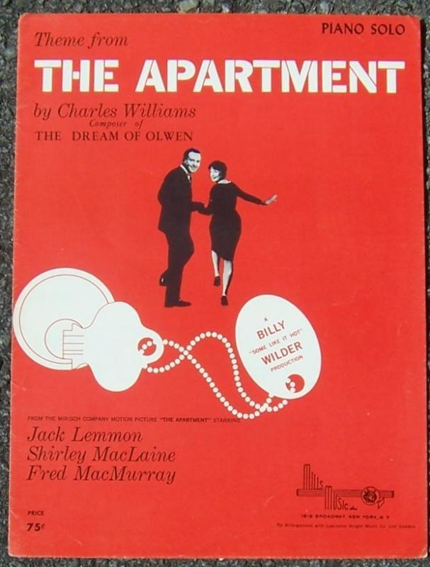 Theme From The Apartment Starring Jack Lemmon, Shirley MacLaine 1949 Sheet Music