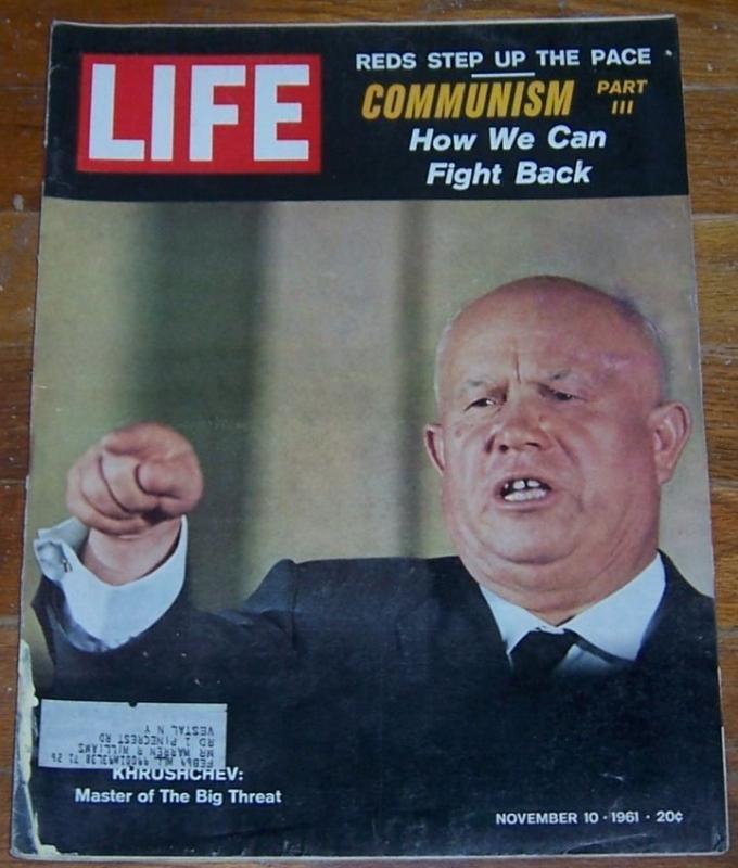 Life Magazine November 10, 1961 Khrushchev on cover Communism/Ethel Kennedy