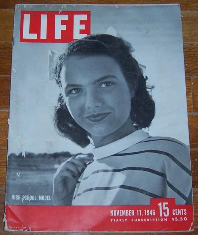 Life Magazine November 11, 1946 High School Model on the Front Cover