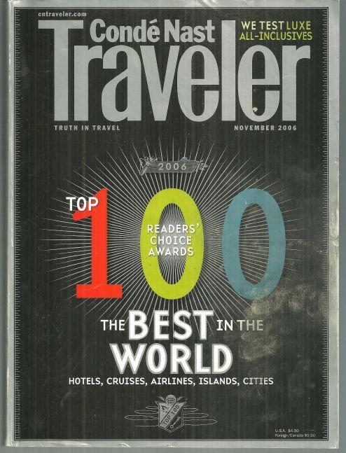 Conde Nast Traveler Magazine November 2006 The Top 100/Arizona/Acapulco/Prague