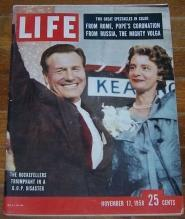 Life Magazine November 17, 1958 Rockefellers Triumphant in a G.O.P. Disaster