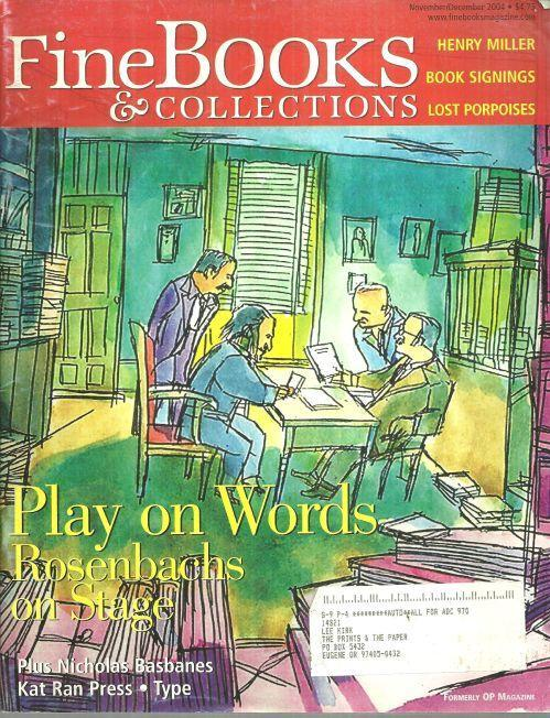 Fine Book and Collections Magazine November/December 2004 Play on Words