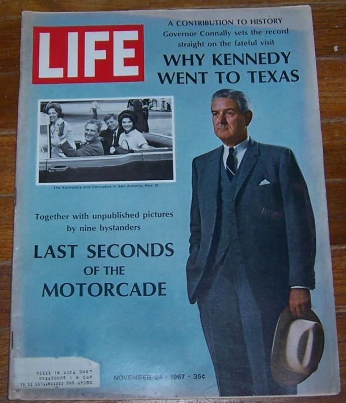 Life Magazine November 24, 1967 Last Seconds of the Motorcade on cover
