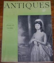 Antiques Magazine November 1958 Sophia Isham by Ralph Earl On cover