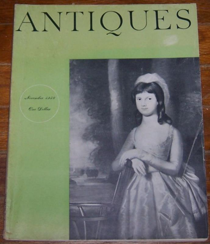 Antiques Magazine November 1958 Sophia Isham by Ralph Earl On cover