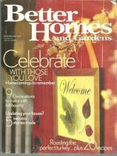 Better Homes and Gardens Magazine November 2003 Celebrate With Those You Love