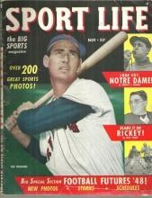 Sport Life Magazine November 1948 Ted Williams on Cover 1948 Football Futures