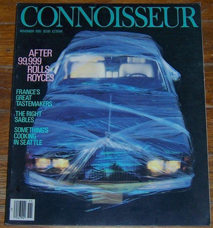 Connoisseur Magazine November 1985 Rolls Royce on the cover/Tomorrow's Circus