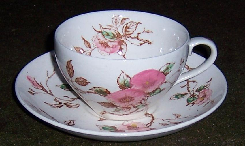 Vintage Nasco China Springtime Pattern Pink Flowers Made in Japan Cup and Saucer