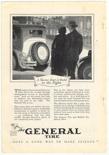 General Tire Gold in the Night 1926 Advertisement