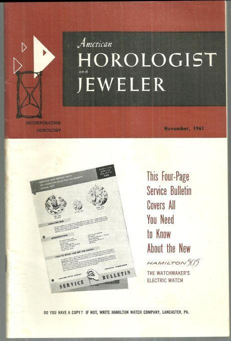 American Horologist and Jeweler Magazine November 1961 Wells Catheral Clock