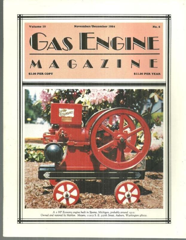 Gas Engine Magazine November/December 1984 2 HP Economy Engine on Cover