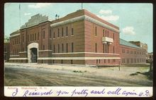 Armory, Manchester, New Hampshire 1908 Postcard
