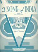 Song of India by Rimsky Korsakow 1932 Sheet Music
