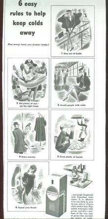 1943 World War II Pepsodent Antiseptic Advertisement