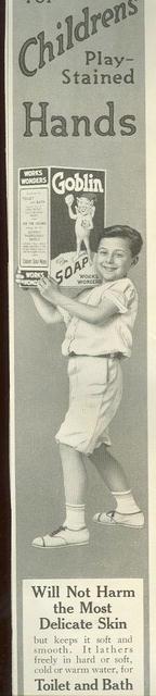 Goblin Soap for Children's Hands 1915 Magazine Ad
