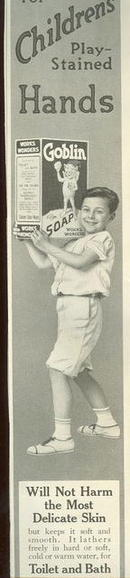 Goblin Soap for Children's Hands 1915 Magazine Ad