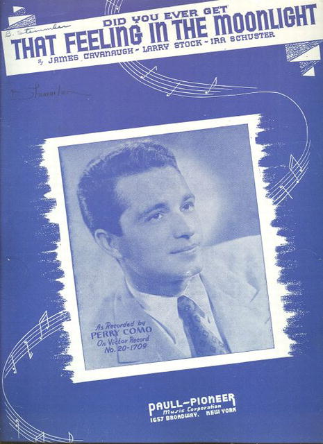 Perry Como Sings That Feeling in the Moonlight 1944 Sheet Music