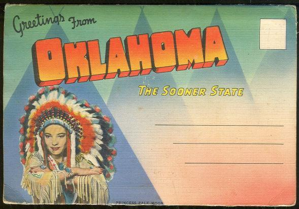 Souvenir Postcard Folder From Oklahoma The Sooner State 18 Color Views