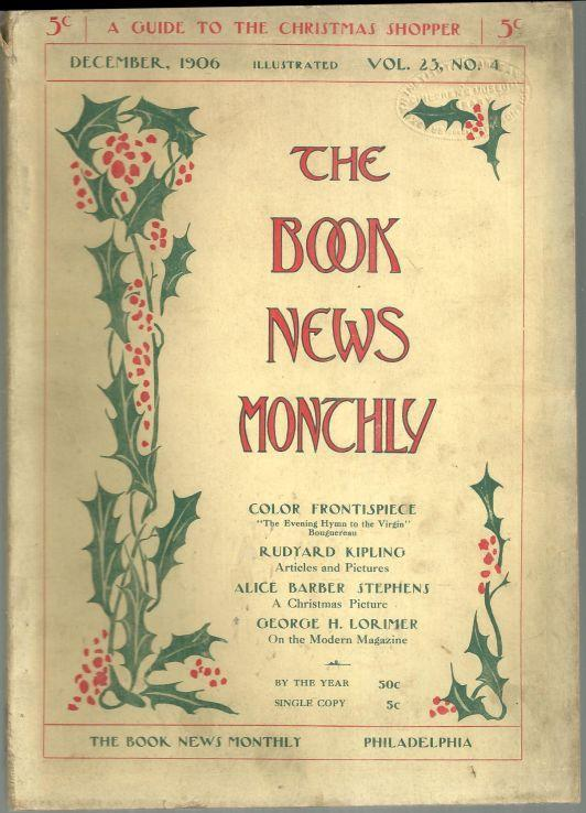 Book News Magazine December 1906 Guide to the Christmas Shopper/ Laurence Sterne