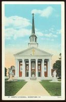 Postcard of St. Joesph Cathedral, Bardstown, Kentucky