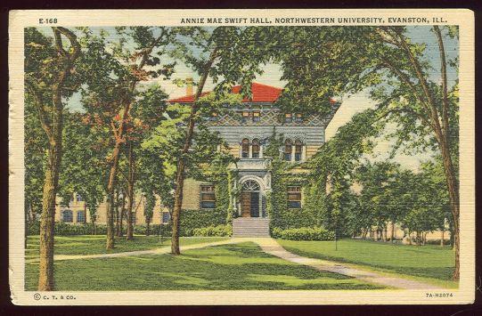 Annie Mae Swift Hall, Northwestern Univ 1940 Postcard