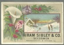 Victorian Trade Card for Hiram Sibley & Co., Seedsmen with Ice Skaters