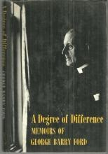 Degree of Difference by George Barry Ford 1969 1st edition with Dust Jacket
