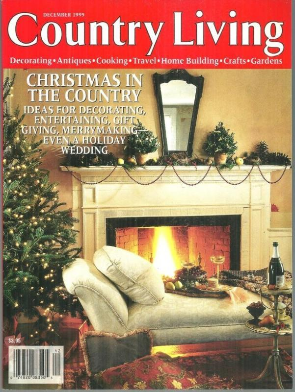 Country Living Magazine December 1995 Christmas in the Country Feather Trees