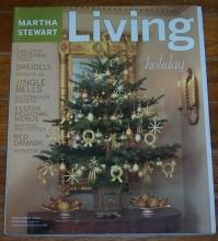 Martha Stewart Living December 2001 Four American Holiday Menus
