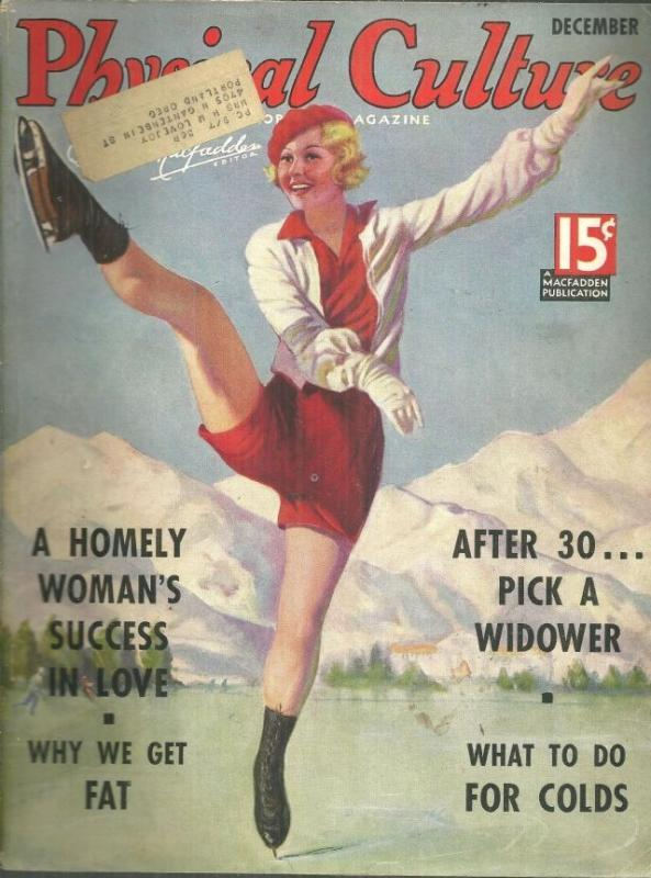 Physical Culture Magazine December 1935 The Common Cold/Let's Talk Turkey