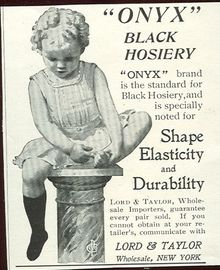 Onyx Black Hosiery Lord and Taylor 1901 Magazine Advertisement