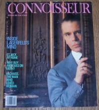 Connoisseur Magazine December 1985 Karl Lagerfeld on the cover